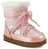 Cover Girl Toddler Girls' Glitter Lace Up Snow Boots