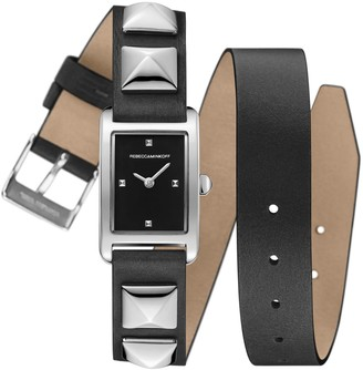 Rebecca Minkoff Moment Jewelry That Tells Time Stainless Steel & Leather-Strap Watch