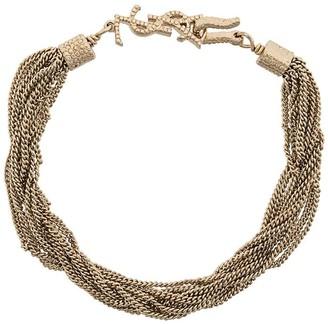 Saint Laurent Loulou twisted chains bracelet