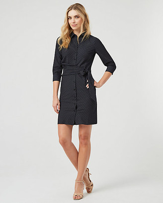 Le Château Twill Button-Front Shirtdress