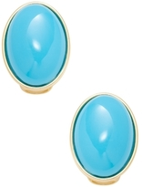 Kenneth Jay Lane Cabochon Oval Stud Earrings