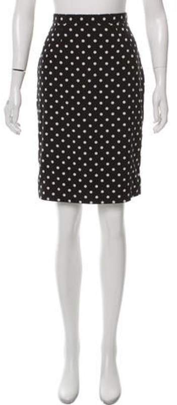 18dfef9b33 Silk Polka Dot Skirt Black Silk Polka Dot Skirt