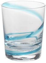 Pier 1 Imports Turquoise Spiral Line Short Tumbler