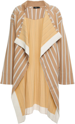 Bassike Draped Striped Stretch-twill Jacket
