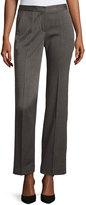 T Tahari Prima Herringbone Straight-Leg Pants, Gray/Black