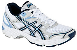"Asics Gel 180"" Athletic Shoe - White/Navy/Silver"