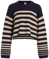 KHAITE Dotty Striped Cashmere Sweater