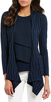 Preston & York Nina Rib Knit Open Front Cardigan