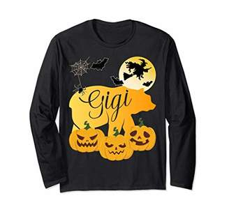 Papa Bear Halloween Funny Spooky Costume Family Pumpkin Long Sleeve T-Shirt