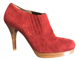 Balenciaga Red Suede Ankle boots
