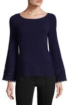 Ramy Brook Dina Perforated Sweater