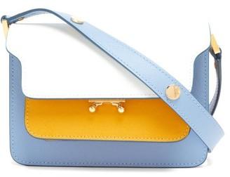 Marni Trunk Mini Saffiano-leather Cross-body Bag - Womens - Yellow White