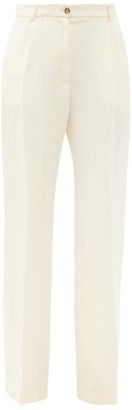 LA COLLECTION Phoebe Silk-crepe Wide-leg Trousers - Ivory