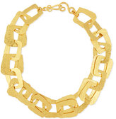 Stephanie Kantis Structure 24K Hammered Link Necklace