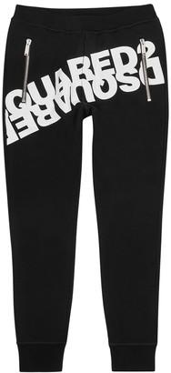 DSQUARED2 Black logo-print cotton sweatpants
