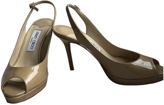 Jimmy Choo Beige Patent leather Heels