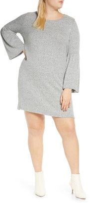 Bobeau Flare Cuff Long Sleeve Sweater Dress