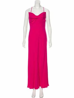 Valentino Bow-Accented Evening Dress; Fuchsia