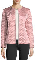 Joan Vass Quilted Satin Zip Jacket