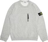 Stone Island Zip-detail cotton-jersey jumper 4-14 years