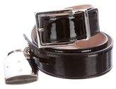 Dolce & Gabbana Patent Leather Padlock Belt