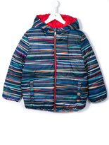 Paul Smith striped hooded down jacket