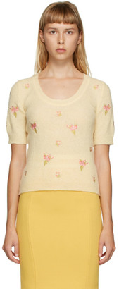 Moschino Yellow Floral Embroidered Sweater