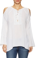 525 America Gauze Embroidery Blouse