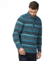 Mantaray Navy Striped Pique Rugby Top
