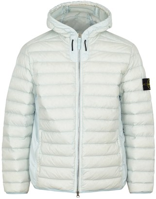 Stone Island 44525 Pale Blue Quilted Shell Jacket