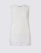 Per Una Lace Layer Round Neck Sleeveless Tunic