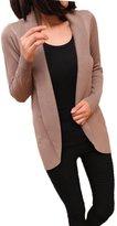 TRURENDI Women Long Sleeve Knitted Cardigan Long Jacket Outwear Casual Loose Sweater