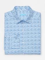 J.Mclaughlin Gramercy Classic Fit Linen Shirt in Mini Petal