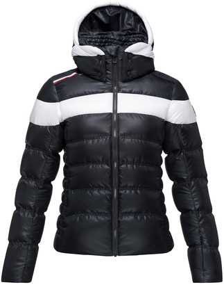Rossignol Hiver Tailored Fit Waterproof 750-Fill-Power Down Jacket with Faux Fur Trim