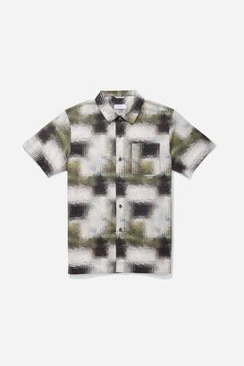 Saturdays NYC Alpons Glass Print Short Sleeve Shirt