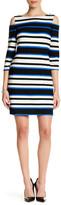 Sandra Darren 3/4 Sleeve Cold Shoulder Dress (Petite)