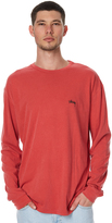 Stussy Stock Pigment Mens Ls Tee Red