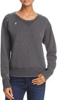 Scotch & Soda Embroidered Distressed Sweatshirt