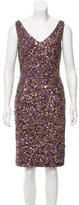 Theia Sequined Bodycon Dress