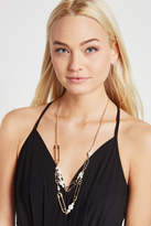 BCBGeneration Faux-Pearl Safety Pin Necklace