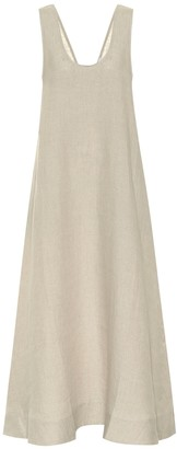 ASCENO Capri linen maxi dress