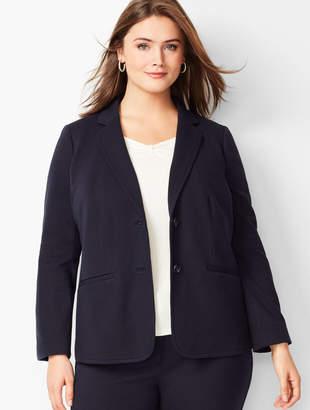 Talbots Plus Size Italian Luxe Knit Two-Button Blazer