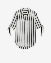 Express Striped Tie Sleeve Shirt