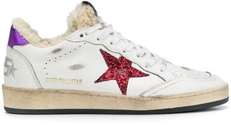 Golden Goose Ball Star shearling-lined sneakers