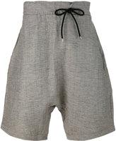 Numero 00 Numero00 - dislocated drawstring drop-crotch shorts - men - Cotton/Linen/Flax/Polyester - S