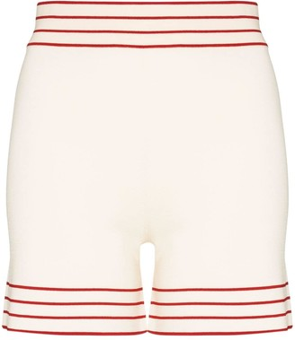 ODYSSEE Stripe Trim Knit Shorts