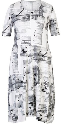 Chesca Brush Stroke Print Jersey Dress