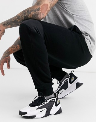 Topman Signature joggers with embroidery in black