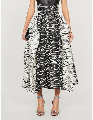 Maticevski Numerous Ball high-waist animal-print maxi skirt