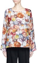 Acne Studios 'Brenna' floral print silk satin top